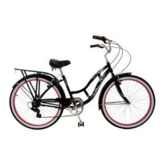 Girls Black Schwinn Road Cruiser Bike Bicycle 26 inch 7 Speeds