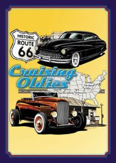 Cruising Oldies Hot Rod Street Rt 66 Vintage Retro Metal Advertising
