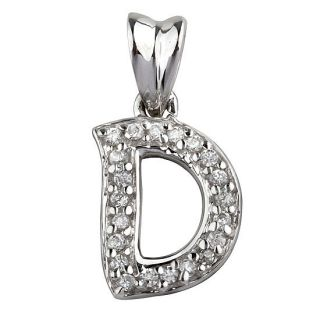 New Women Men 925 Sterling Silver CZ Initial Letter D Pendants