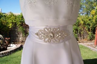 Crystal Rhinestone Beaded Bridal Wedding Dress Sash Belt Custom