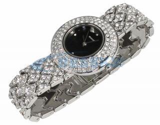 New Lady Women Crystal Bracelet Quartz Wrist Watch Gift