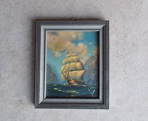 SHIP Picture Wood Frame Glass 201 Art Pub Co 2509 Cermak RD