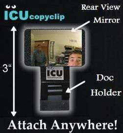 Icucopyclip Cubicle Computer Mirror Document Holder