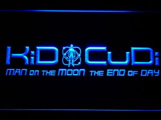 C222 B Kid Cudi Man on The Moon End of Day Neon Sign