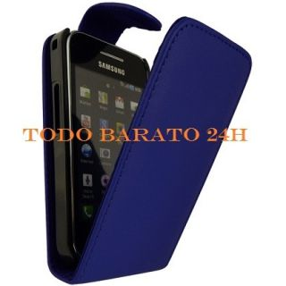 Funda Cuero Piel 2 Protectores Samsung Galaxy Ace S5830 S5839I Negra