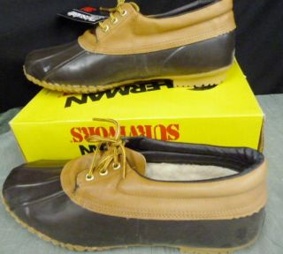 HERMAN SURVIVORS #111 STEEL SHANK DUCK INSULATED SLOSHER SHOES BOOTS
