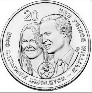 Prince William Kate Middleton Royal Wedding Coin Princess Diana Pippa