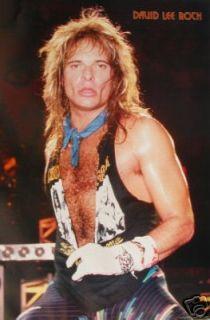 David Lee Roth Van Halen Mint 1980s Poster Large