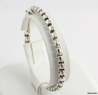Authentic David Yurman 8 Rounded Cable Chain Bracelet   Sterling