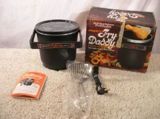 Vintage Presto Fry Daddy Electric Deep Fryer New Never Used in Box