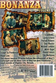 BONANZA Volume 1 DVD Michael Landon, Mitch Vogel, David Canary