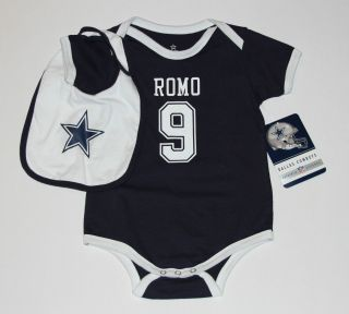 NEW Dallas Cowboys Tony Romo Infant Baby Boys Jersey Onesie 2 Piece