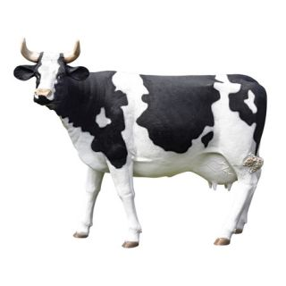 Holstein Friesian Cow Sculpture Dairy Animal Home Farm Garden Statue