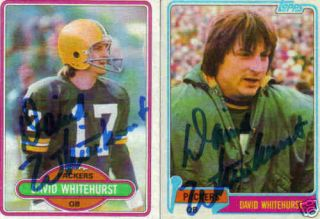 Autographed David Whitehurst 1980 Topps Card Packers