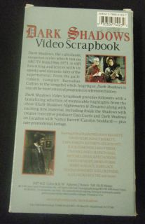 Video Scrapbooks VHS Jonathan Frid Joan Bennett David Selby