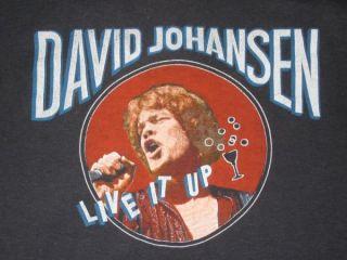 1982 David Johansen Vtg Tour T Shirt New York Dolls OG