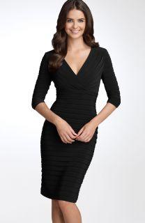 Adrianna Papell Pleated Jersey Sheath Dress SZ 16
