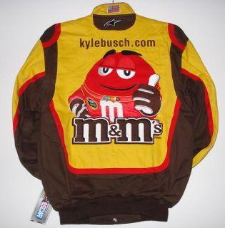 SIZE L SPRINT Kyle Busch M&Ms EMBROIDERED Cotton Uniform Jacket L