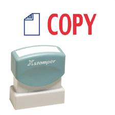 PC Xstamper Rubber Stamp Set Self Inking 2 Color Title Star Brand