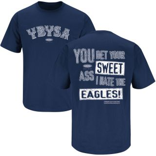 Dallas Cowboys Ybysa I Hate Eagles Blue T Shirt Size s 3XL