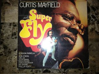 CURTIS MAYFIELD lp SUPERFLY CURTOM 8014 STEREO ORIGINAL SOUNDTRACK DIE