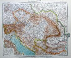 Austria Hungary Dalmatia 1912 Original Antique Map Stieler