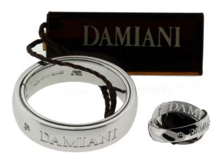 Damiani Ladies Diamond Ring in 18 Karat White Gold New in Box 5 5mm
