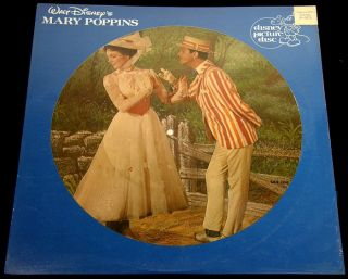 Mary Poppins 1981 Disney Picture Disc LP SEALED w Original Store Tag