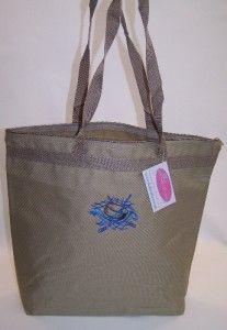 Sticks Sports Swirls Custom Embroidered Large Zipper Tote Bag