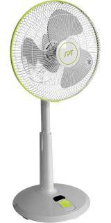 DC Motor Oscillating Standing Floor Fan w/ Remote Control & Adjustable
