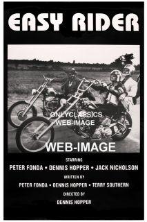 Easy Rider Motorcycle Poster Harley Davidson Chopper