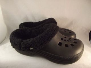 Dawgs Doggers Faux Fur Fleece Lined Shoes Scuffs Slippers Mens Clogs
