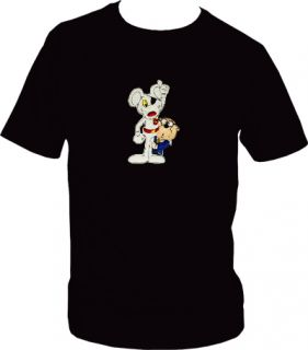 Danger Mouse Penfold Embroidered Black T Shirt Great