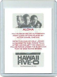 Hawaii Five O Daniel Dae Kim Autograph Sign Print Card