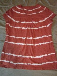 St Johns (St. Johns) Bay Petite Medium Brown & White Tye Dye PM Shirt