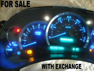 GM SILVERADO GMC SIERRA PICKUP TRUCK CLUSTER WITH SUPER BRIGHT BLUE