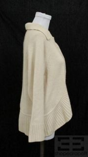Cynthia Cynthia Steffe Cream Cashmere Snap Top Cardigan Size Large