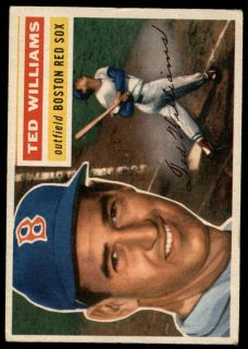 Topps # 5 Ted Williams (White Back)   Deans Cards 3 VG   B56T 00 1036