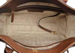 Michael Michael Kors Hamilton Leather East West Satchel Handbag Purse
