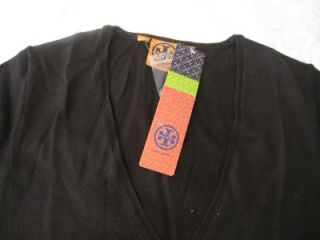 Tory Burch Brown Dabney Chocolate Button Up Cardigan Sweater Sz s $225