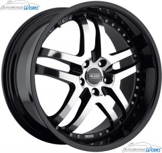 22x10 5 Prado Dante 5x115 18mm Black Machined Wheels Rims inch 22