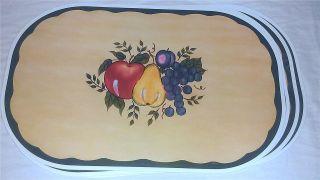 Theme Bistro Cafe Kitchen Oval Vinyl Placemat Place Mat Decor New
