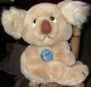 Retired 1982 Vintage Dakin Plush Stuffed Koala Bear Excellent Clean
