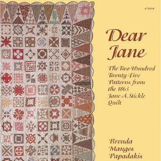 DEAR JANE Stickle Quilt Blocks Papadakis Civil War NEW BOOK 225