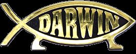 Gold Darwin Fish Car Emblem Badge Decal Symbol Plaque