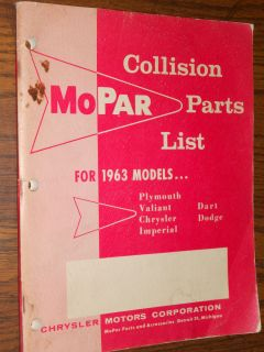 Chrysler Plymouth Dodge Imperial Dart Collision Parts Catalog