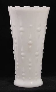 Vintage Milk Glass 7 25 Vase Dot Dash Design