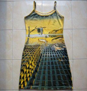 Salvador Dali Disintegration of Memory New Art Dress M