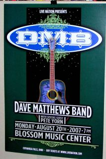 Dave Matthews Band Concert Show Poster Ohio 2007 Cool