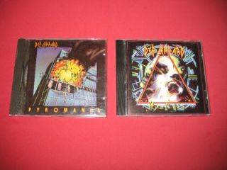 def leppard cds pyromania ori vertigo hysteria vg+